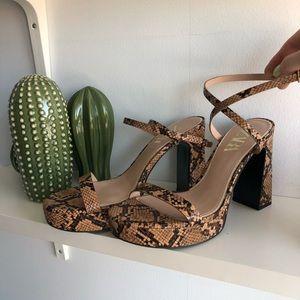 Zara Snakeskin Platform Heels
